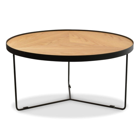 Holm Coffee Table Black/Natural 90cm x 45cm