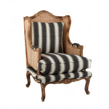 Rattan Armchair Charcoal and White
