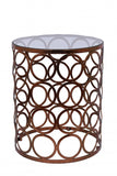 Circles Side Table Copper Leaf