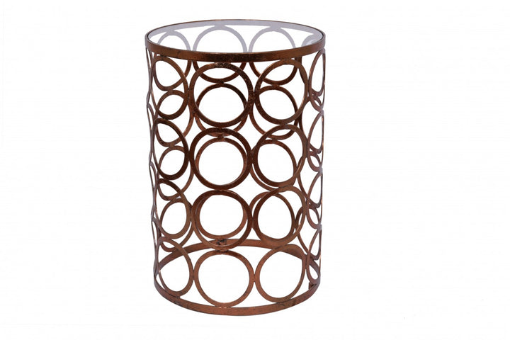 Circles Lamp Table Copper