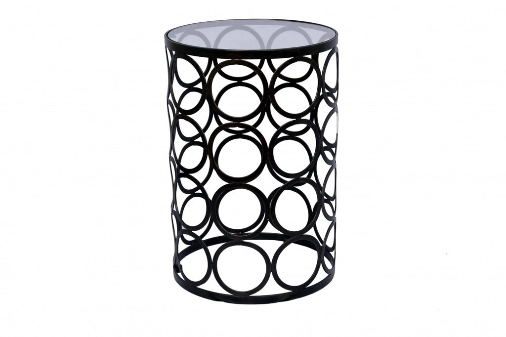 Circles Lamp Table Dark Bronze