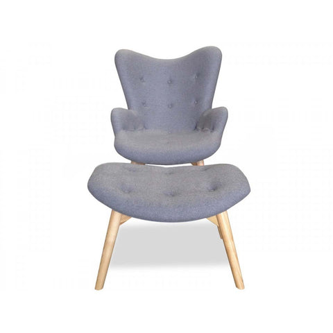 Replica Contour Chair/Ottoman Light Grey