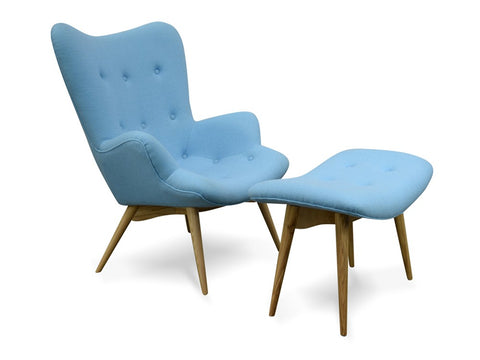 Replica Contour Chair/Ottoman Blue