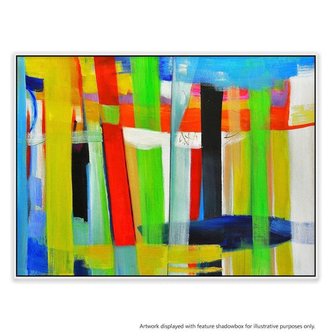 Composition 11 Canvas Painting with Floating Frame