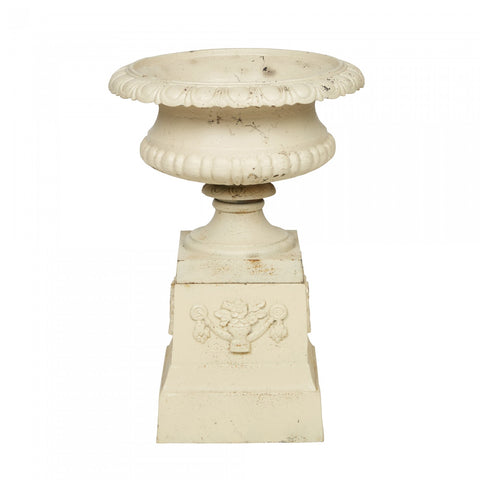 Venetian Fluted Urn and Base Set