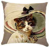 Cats in Hats Cushion Pearl