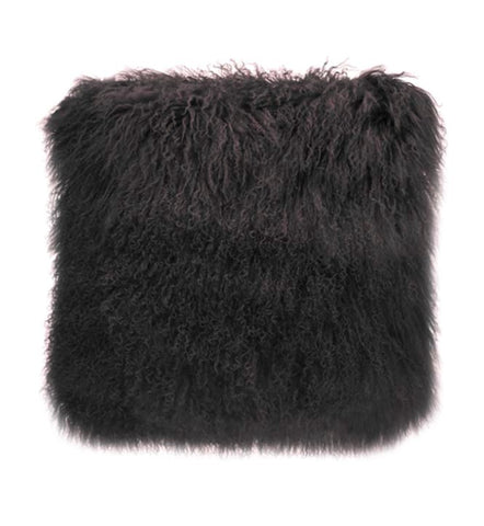 Charcoal Tibetan Fur Cushion