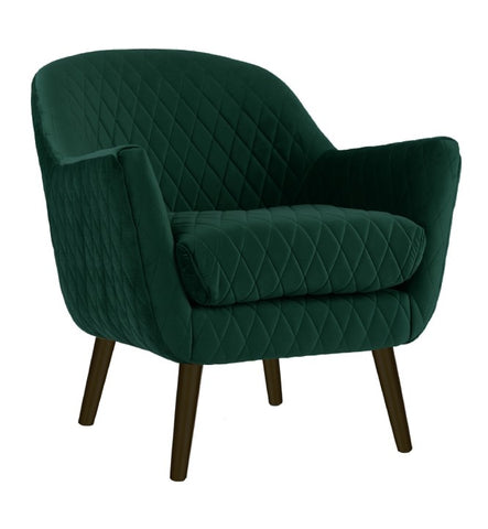 Club Chair Ivy Green with Black Legs