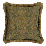 Heraldic Cushion Olive with Trim