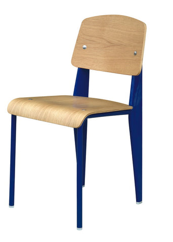 "Replica Jean Prouve ""Standard"" Chair, White"