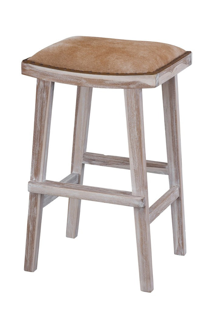 Lyon Stool Brown and White