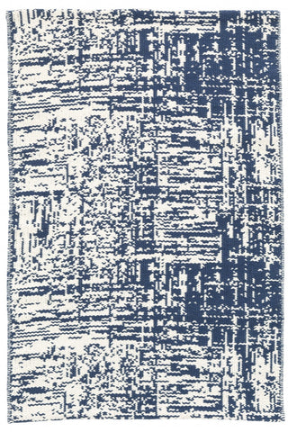 Drybrush Blue Flatweave Cotton Rug
