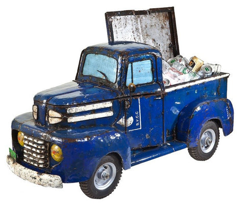 1950's Pick Up Truck Cooler Blue