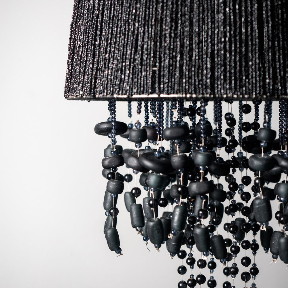 Maud Black Beaded Chandelier