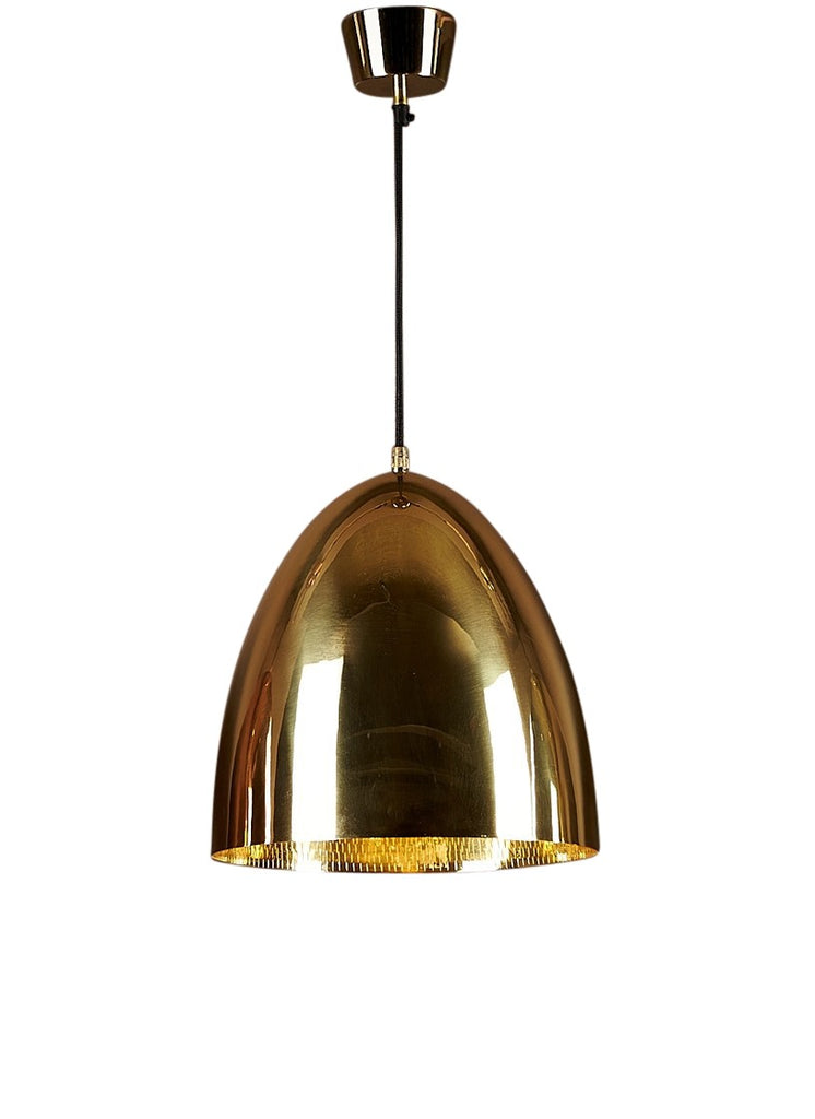 Egg Metallic Pendant Brass