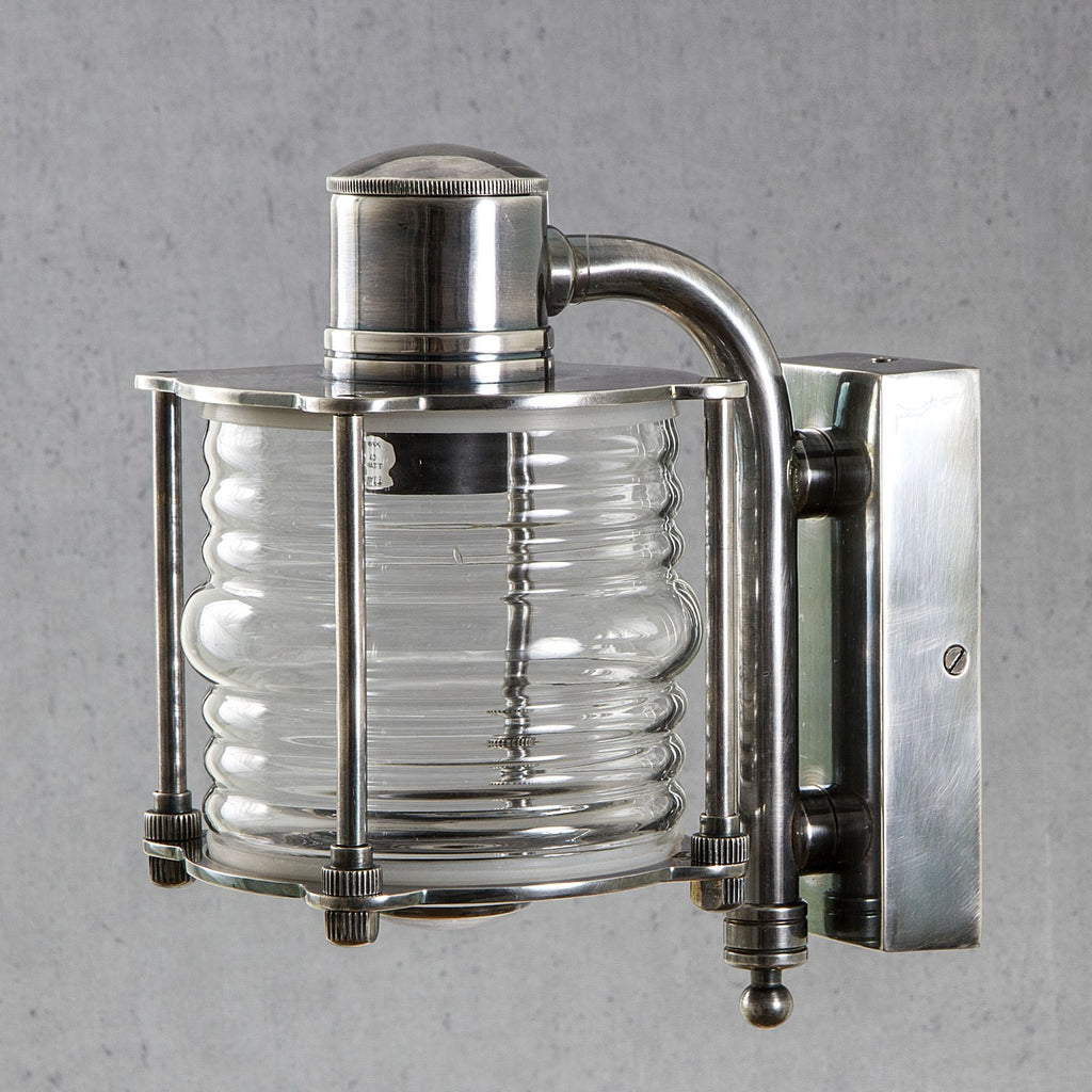 Indoor/Outdoor Yarra Wall Lamp Antique Silver