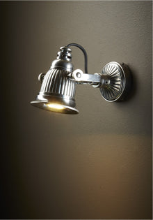 Caledonia Wall Lamp Antique Silver