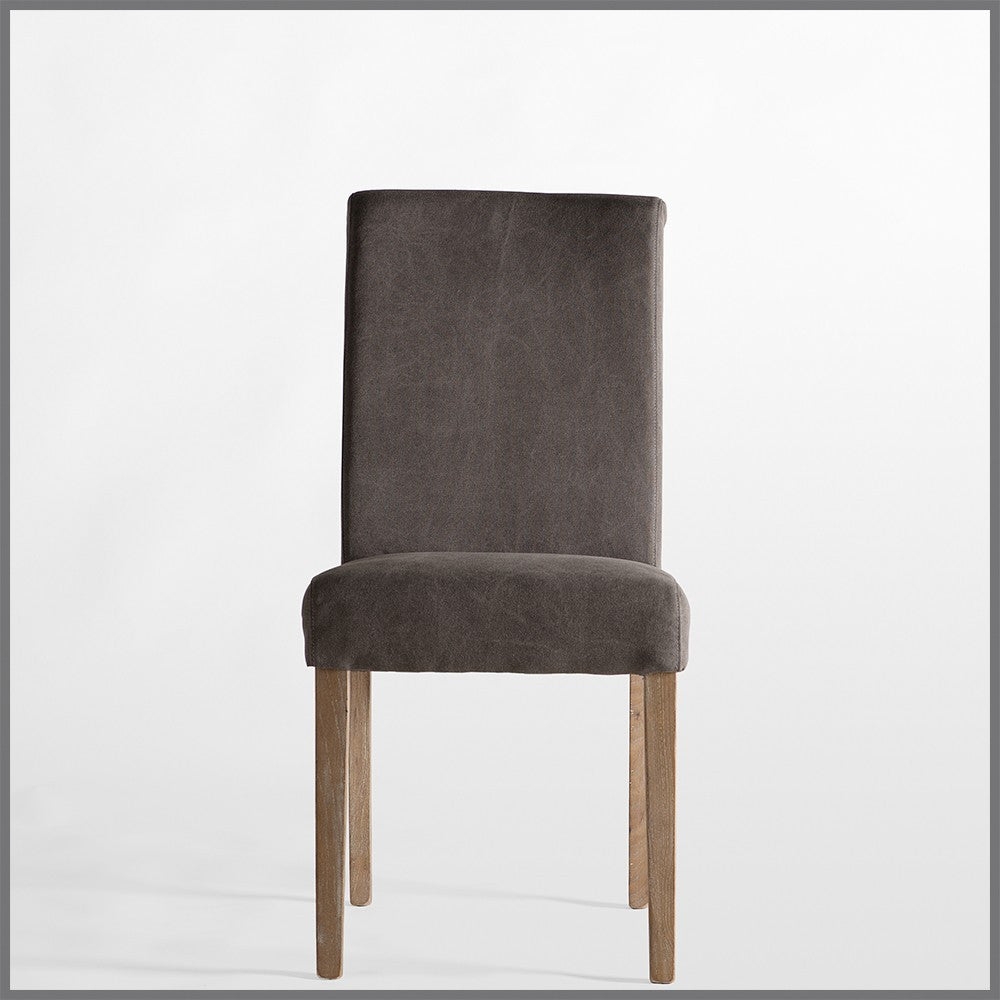 Shale Grey Dining Chair with Matelasse Back
