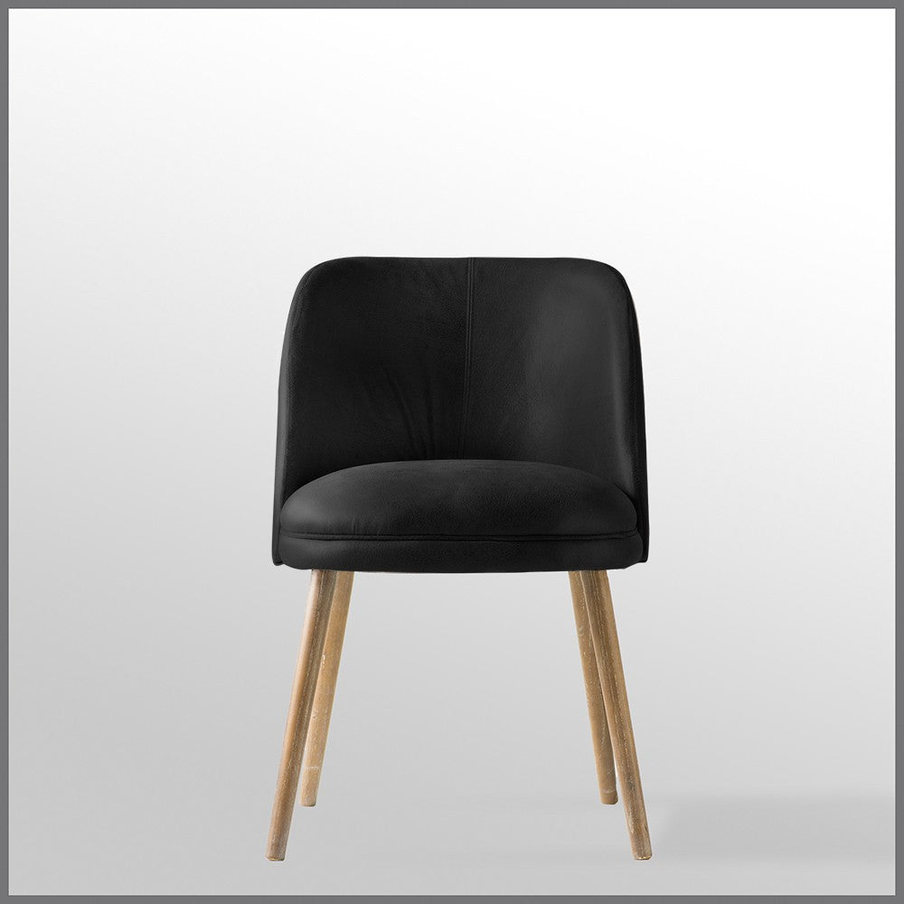 Doma Chair Black Leather