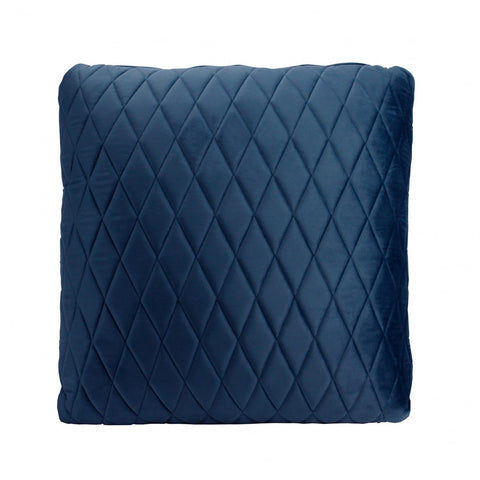 French Navy Coco Velvet Cushion