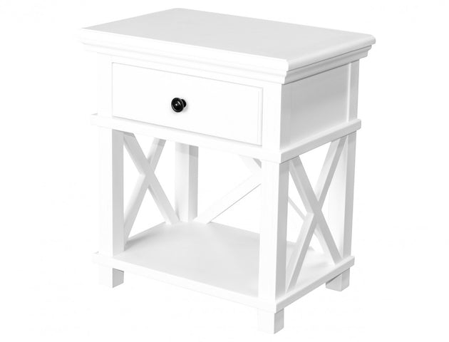 Sorrento Bedside Table White