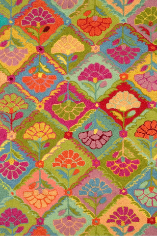 Field of Flowers Woollen Rug Kaffe Fassett