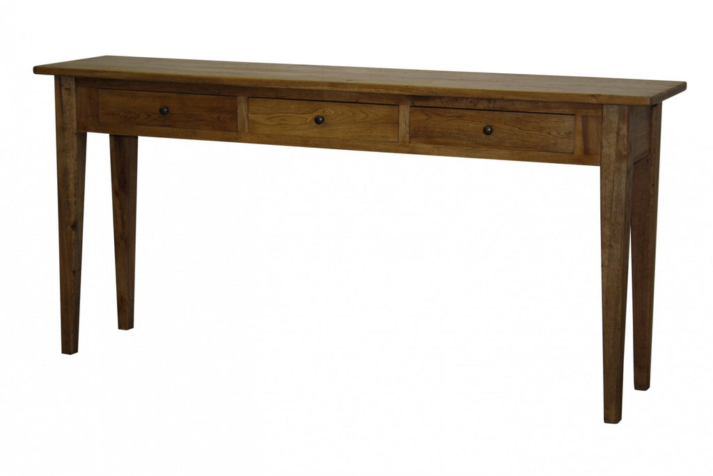 Flinders 3 Drawer Console Antique Natural