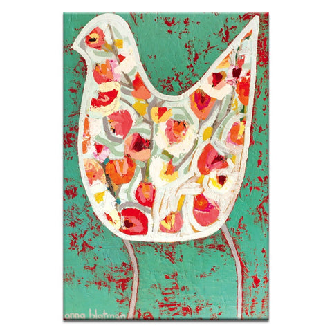 Flower Bird Canvas Print