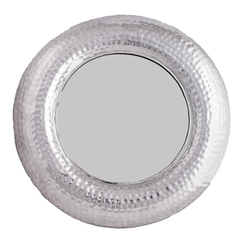 Round Hammered Mirror Large