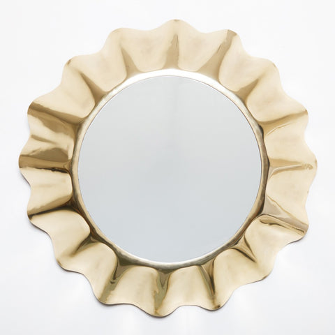 Fluted Mirror Gold