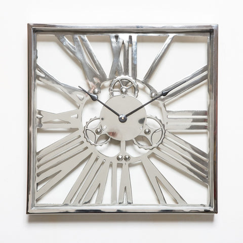 Gear Clock Large Nickel