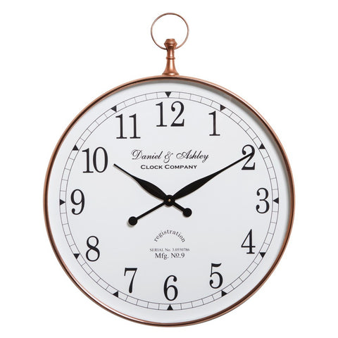 Daniel and Ashley Wall Clock Copper Large