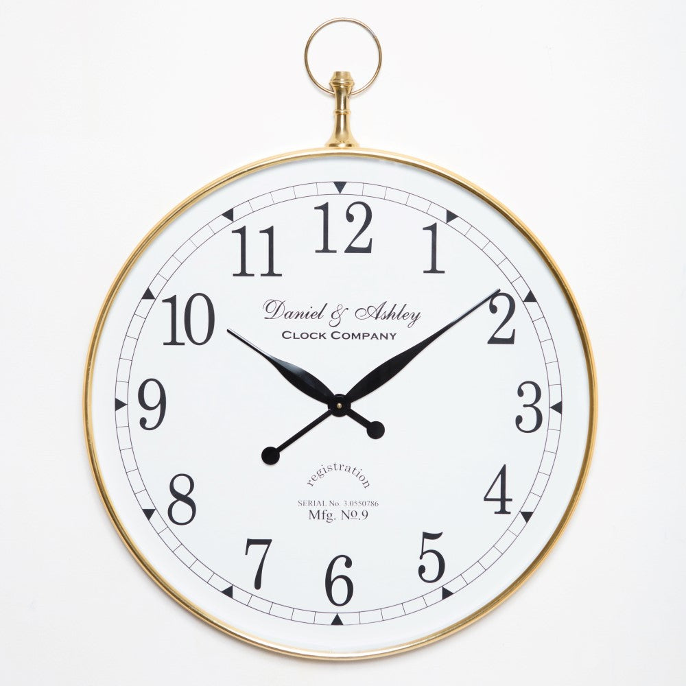 Daniel and Ashley Wall Clock Gold Large