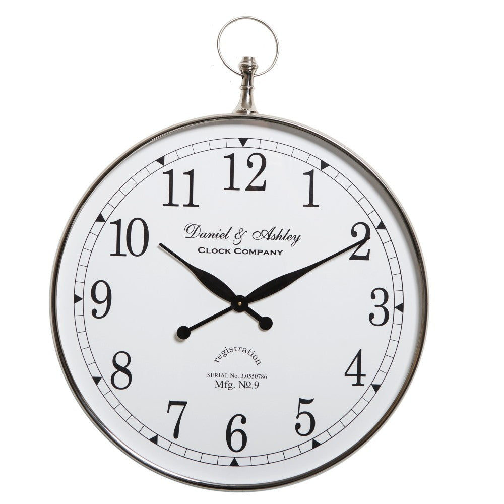 Daniel and Ashley Wall Clock Nickel Large