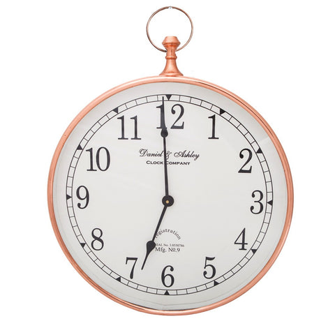 Daniel and Ashley Wall Clock Copper Small