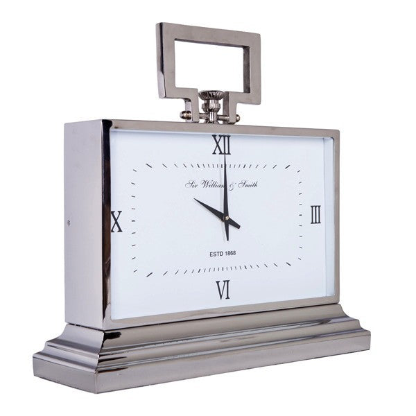 William and Smith Clock Large White