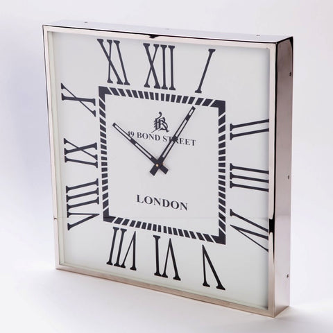 Bond Street Wall Clock X Large White