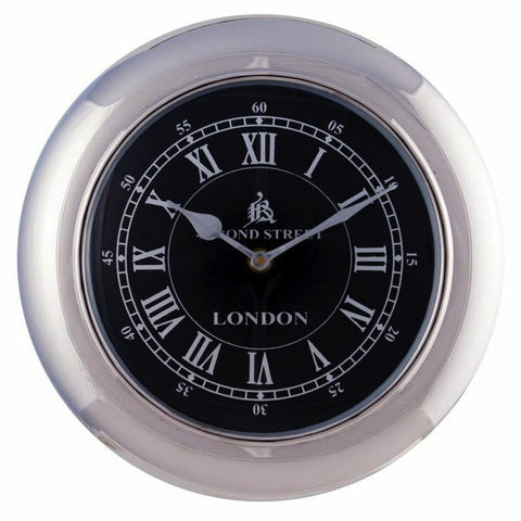 Retro Wall Clock Small Black