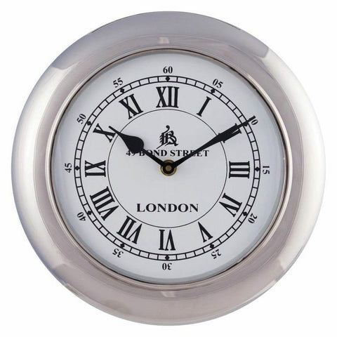 Retro Wall Clock Small White