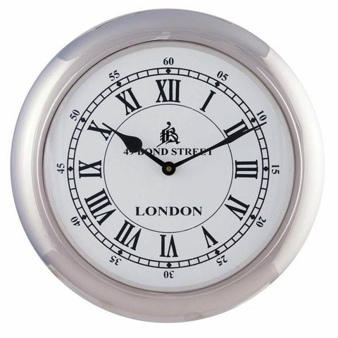 Retro Wall Clock Medium White