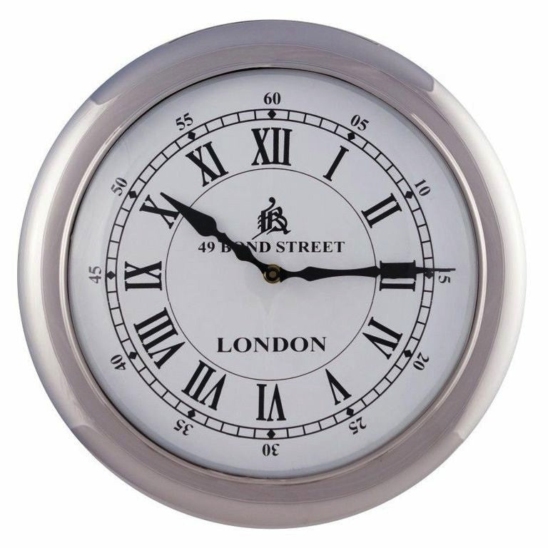 Retro Wall Clock Large White Interiors Online