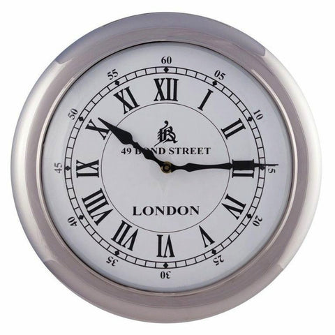 Retro Wall Clock Large White
