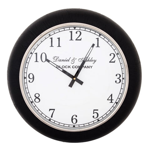 Leather Wall Clock Small