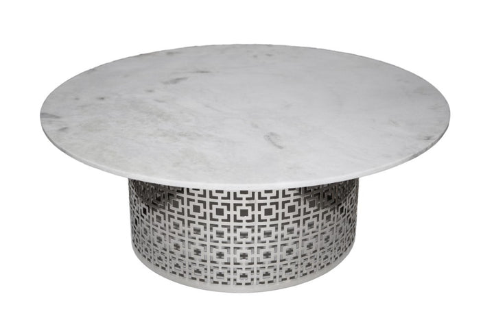 Fifth Cocktail Table Nickel and Marble