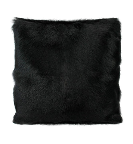 Black Goat Fur Cushion