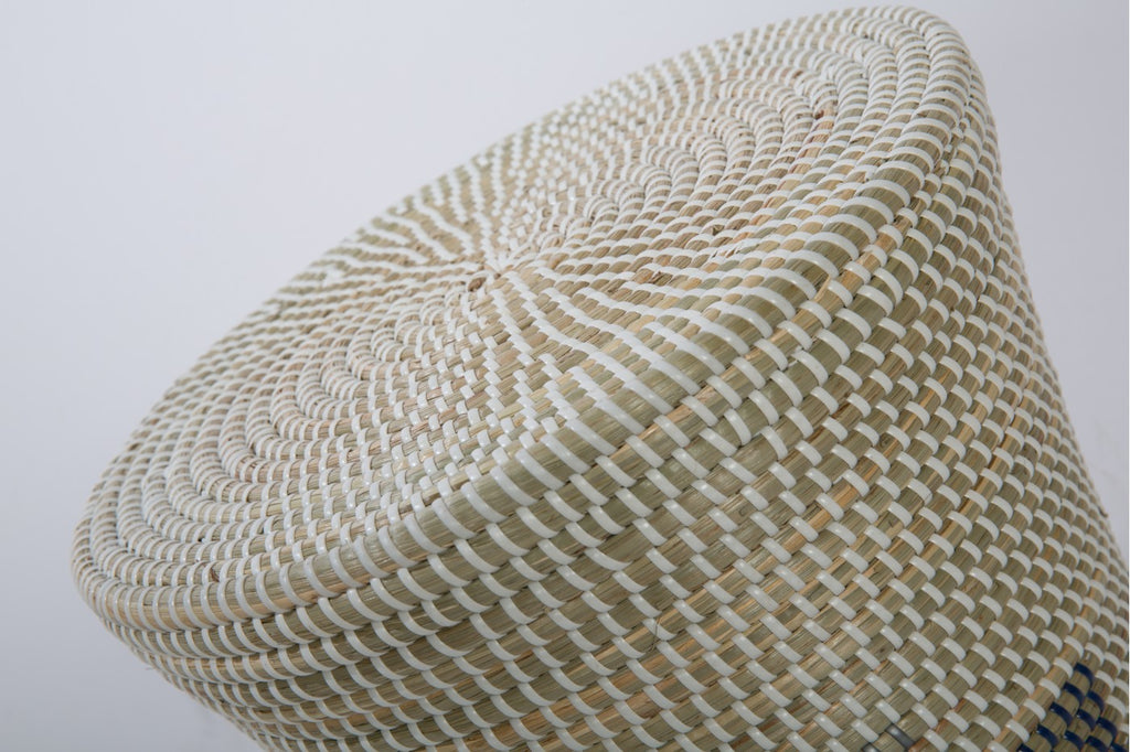 Seagrass Hourglass Stool
