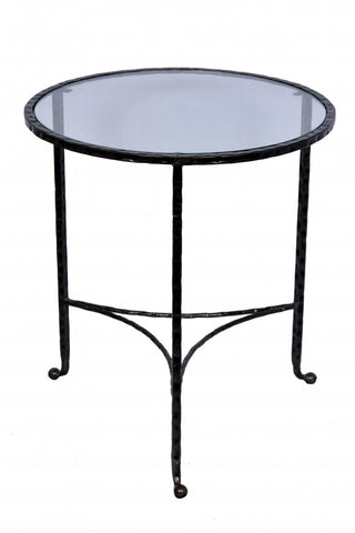 Hammered End Table Dark Bronze