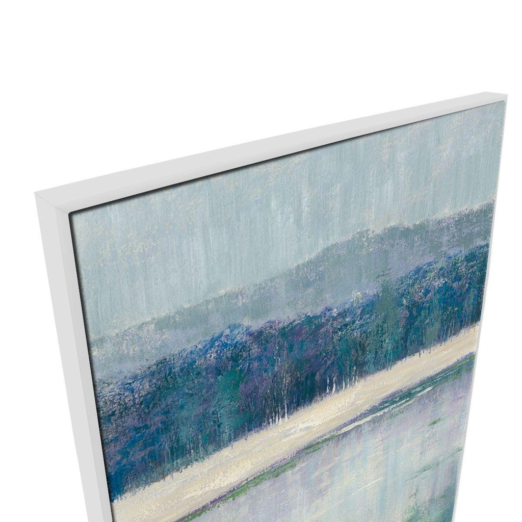 Cold Forest Canvas Painting with Floating Frame