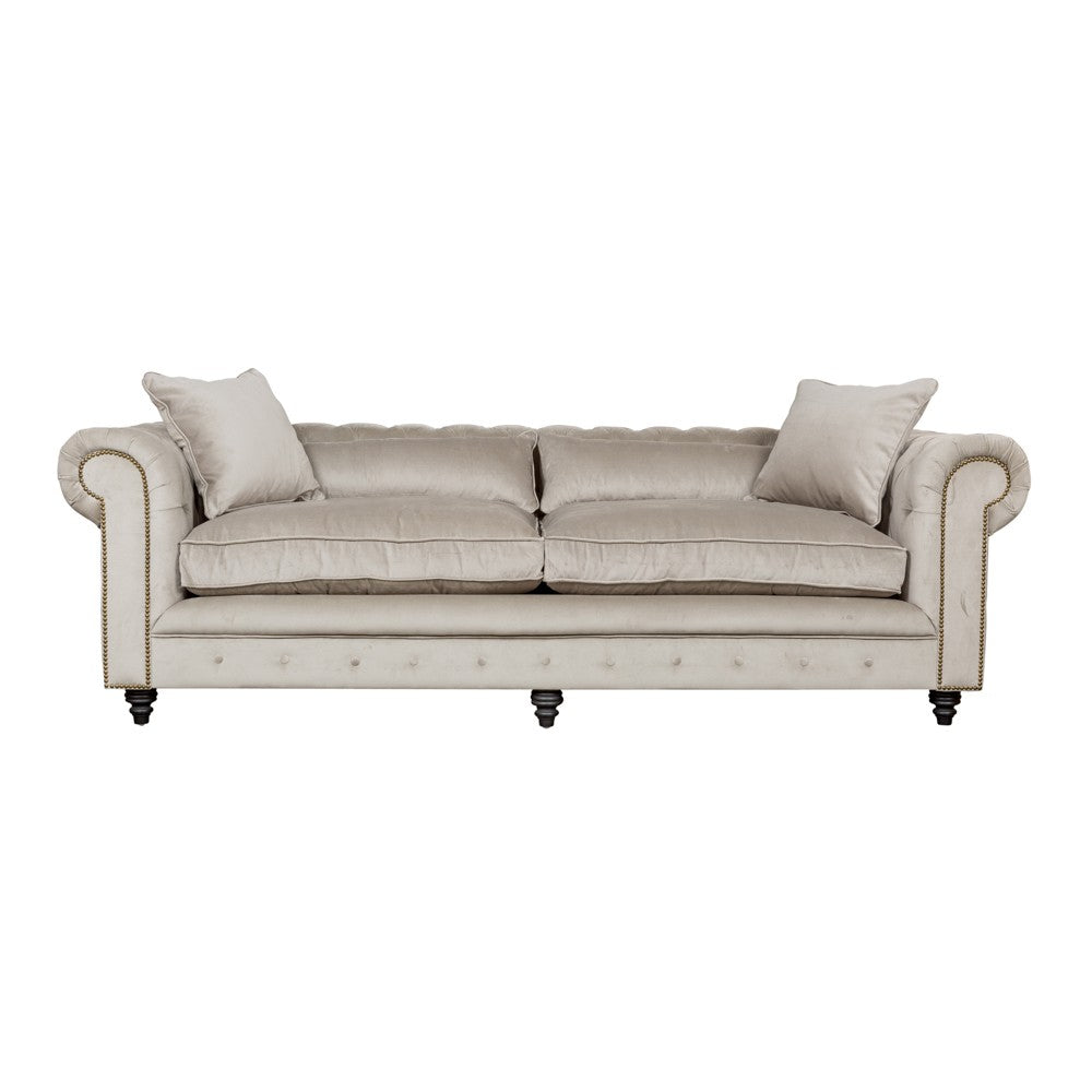 ... Kensington Chesterfield Grey Velvet Sofa 2 Seater ...