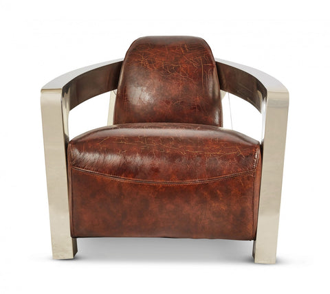 Vintage Leather Meirs Chair Chestnut